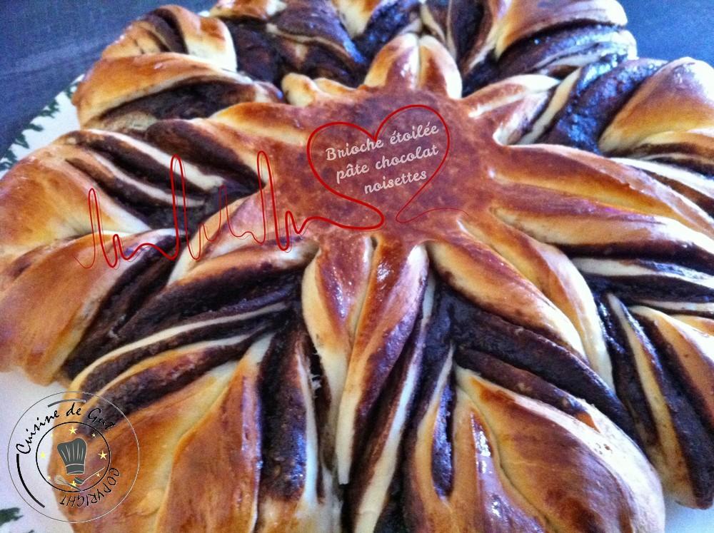 Brioche étoilée noisettes chocolat 2