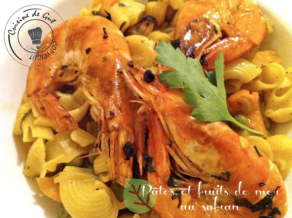 Pâtes et fruits mer au safran1