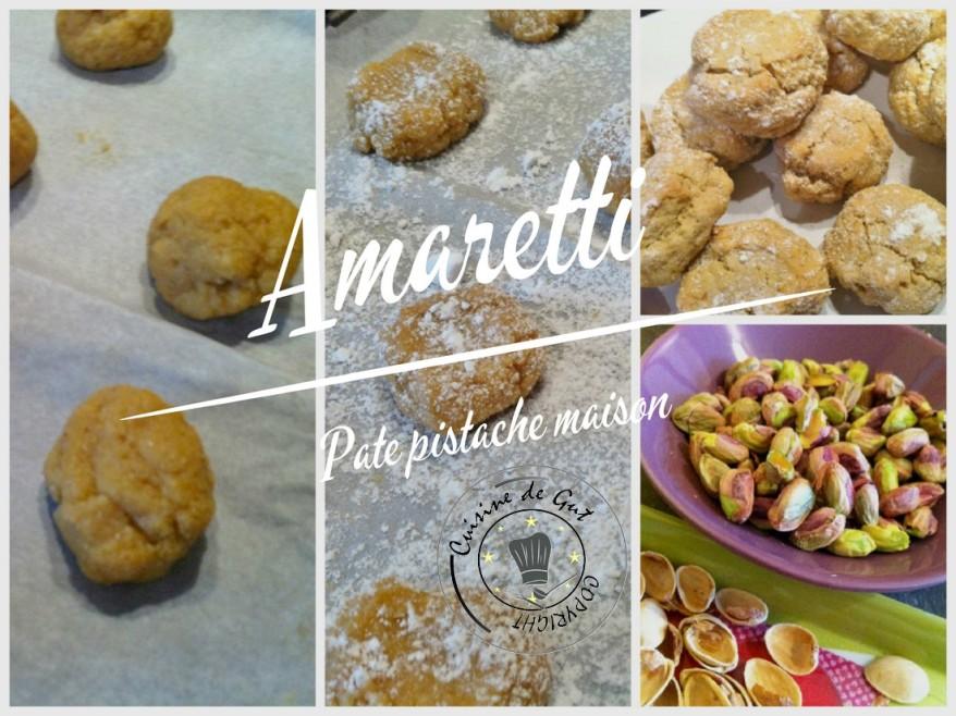 Amaretti pistache collage