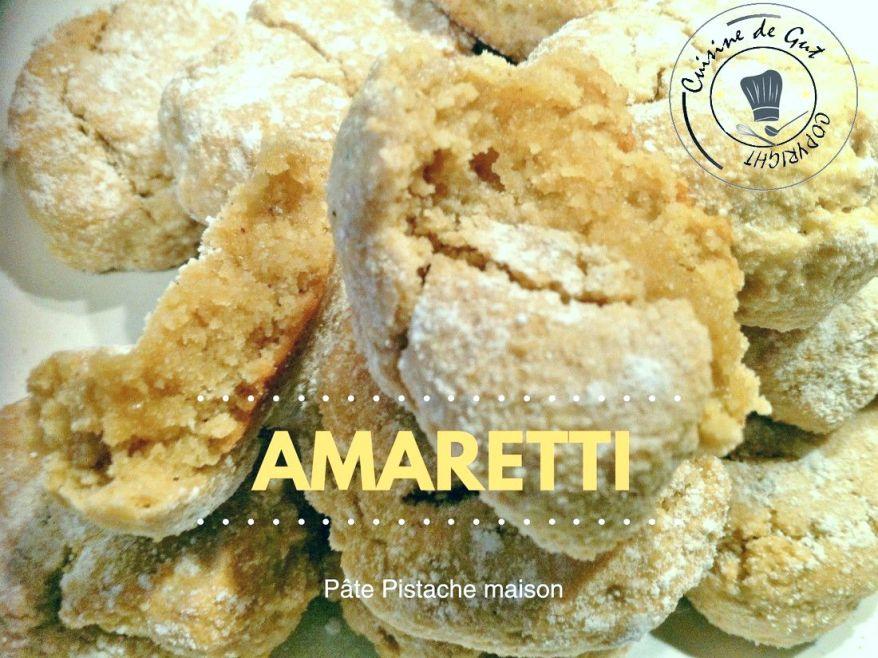 amaretti p 226 te pistache maison cuisine de gut