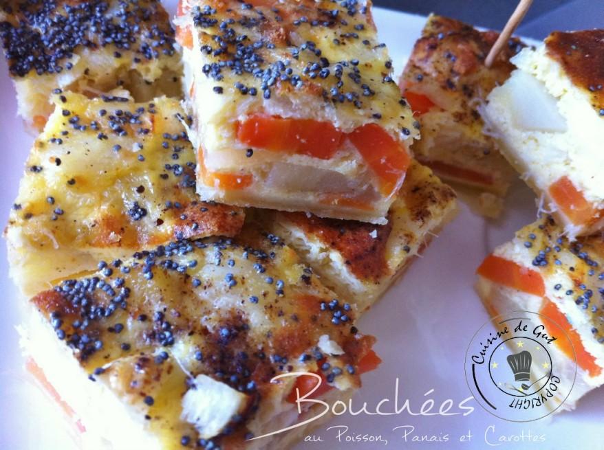 Bouchées ou tarte poisson panais et carottes