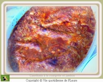 canelloni courgette jambon FLAURE