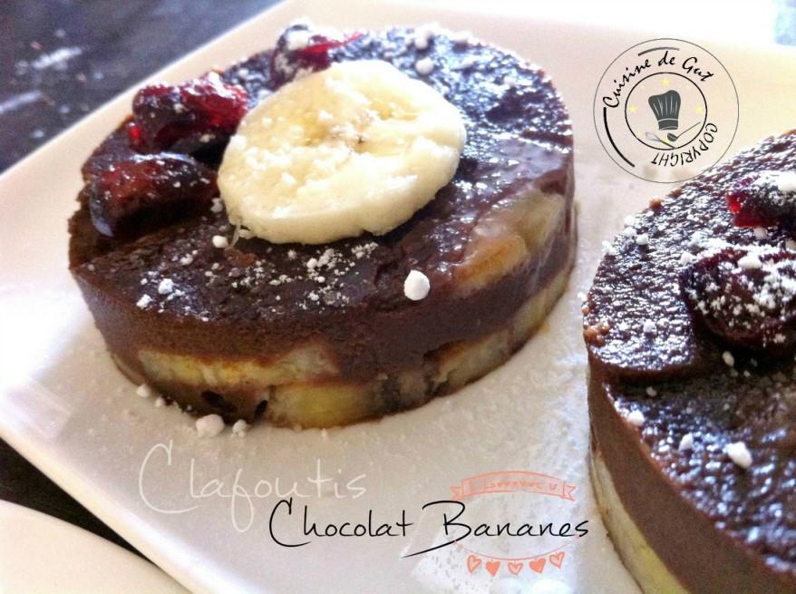 Clafoutis chocolat bananes