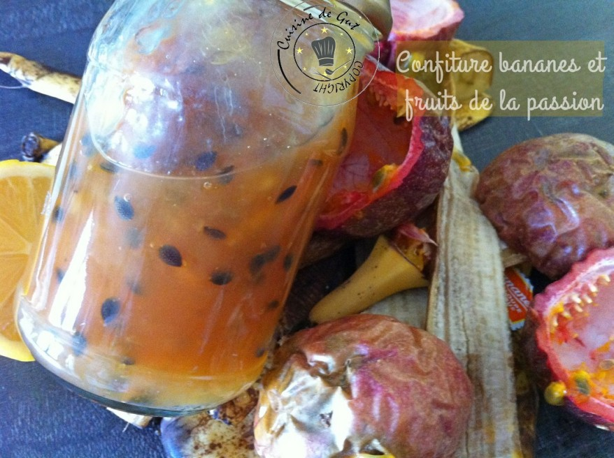 Confiture bananes et fruits de la passion 2