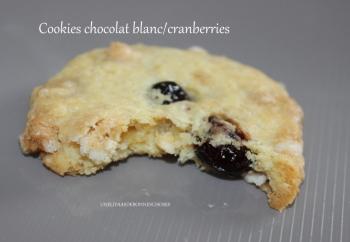 Coockies chocolat blanc cranberrie Yasmina