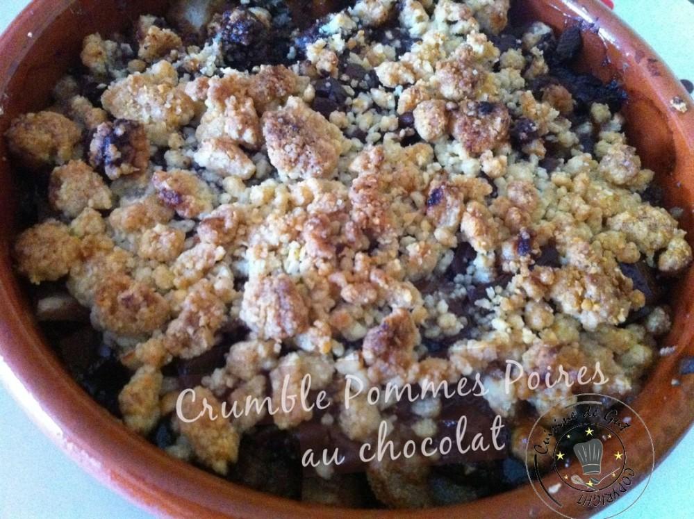 Crumbles pommes poires au chocolat 2