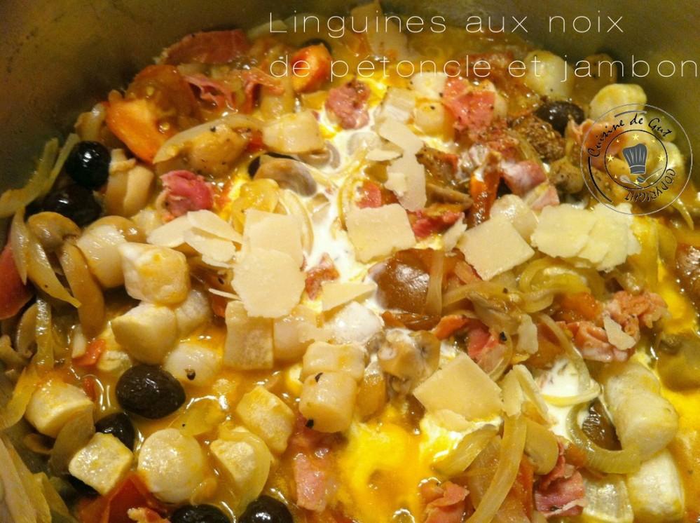 Linguines aux noix de pétoncle et jambon 2