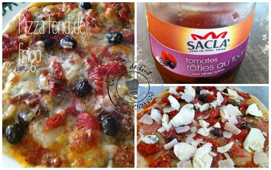 Pizza fond de frigo collage