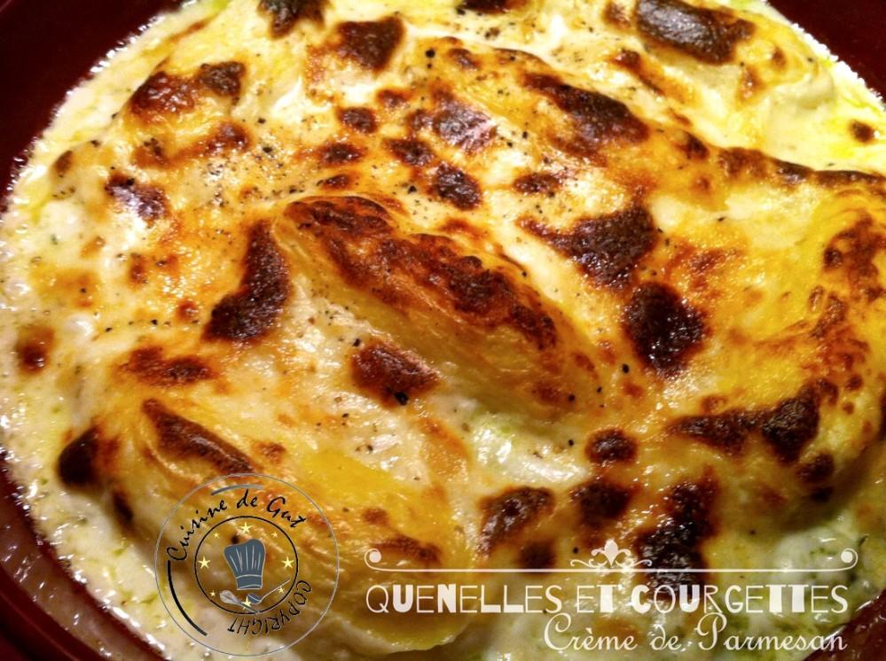 Quenelles courgettes crème de parmesan 1