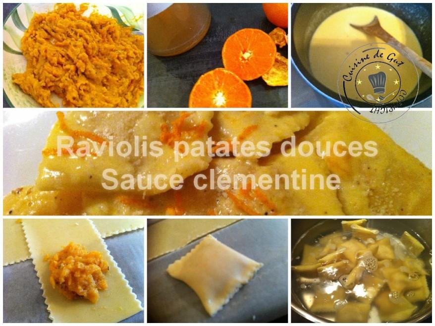 Raviolis patates douce sauce clémentine 2
