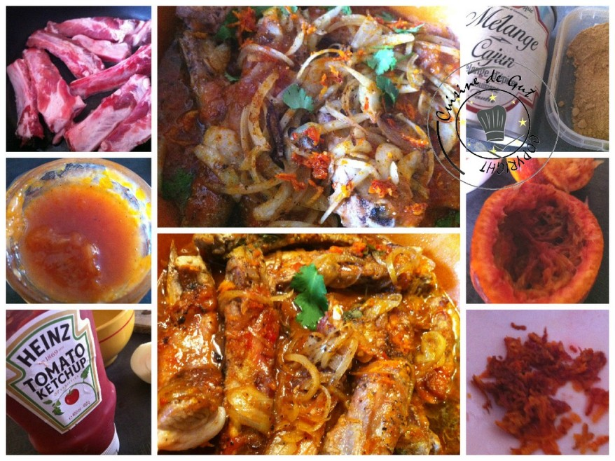 Ribs moelleux aux agrumes Collage