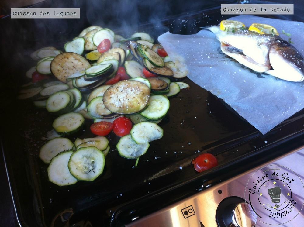 Dorade sauce citronnée échalote et sirop d'érable cuisson