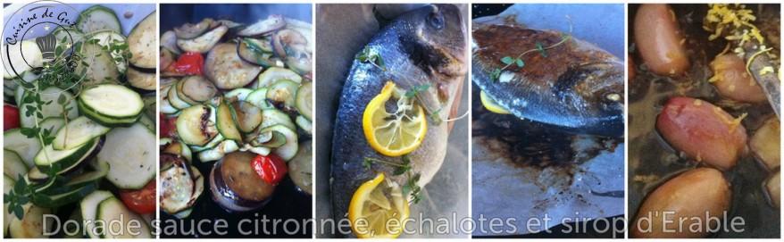 Dorade sauce citronnée échalote et sirop d'érable montage