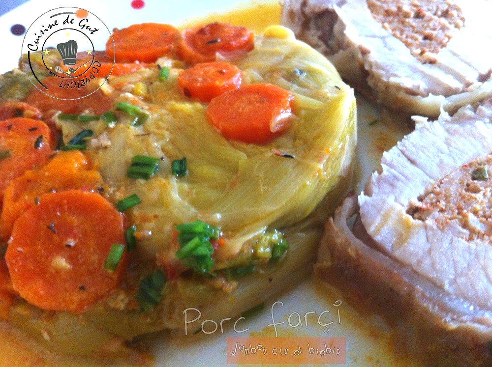 Porc farçi jambon et brebis 1
