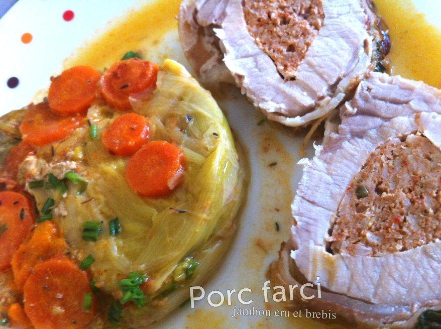 Porc farci jambon cru et brebis2