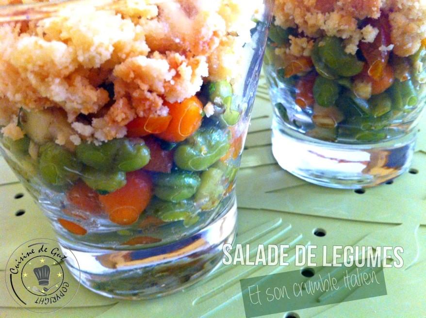 Salade de légumes et son crumble italien