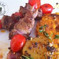 Brochettes de rognon de veau épicées à la plancha