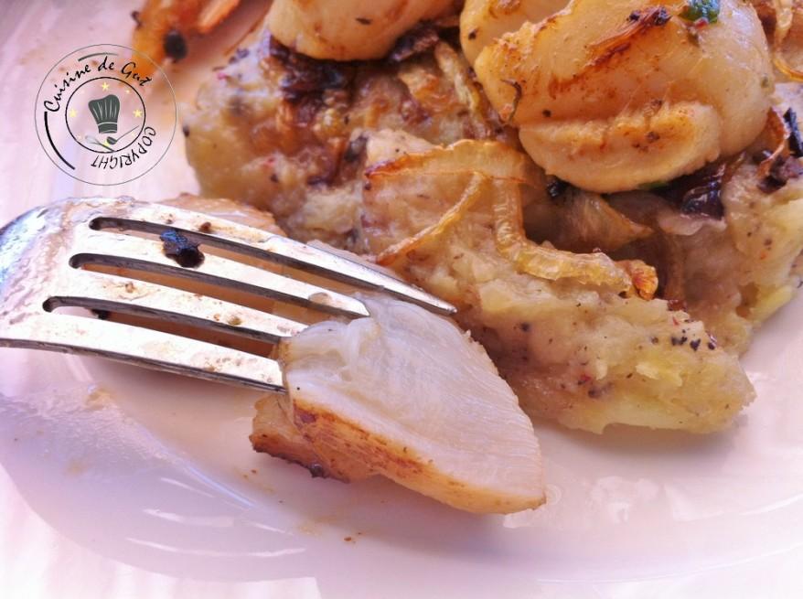 Plancha de fruits de mer et son écrasée de Primabreitzh bouchée