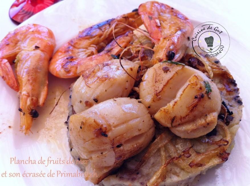 Plancha de fruits de mer et son écrasée de Primabreitzh