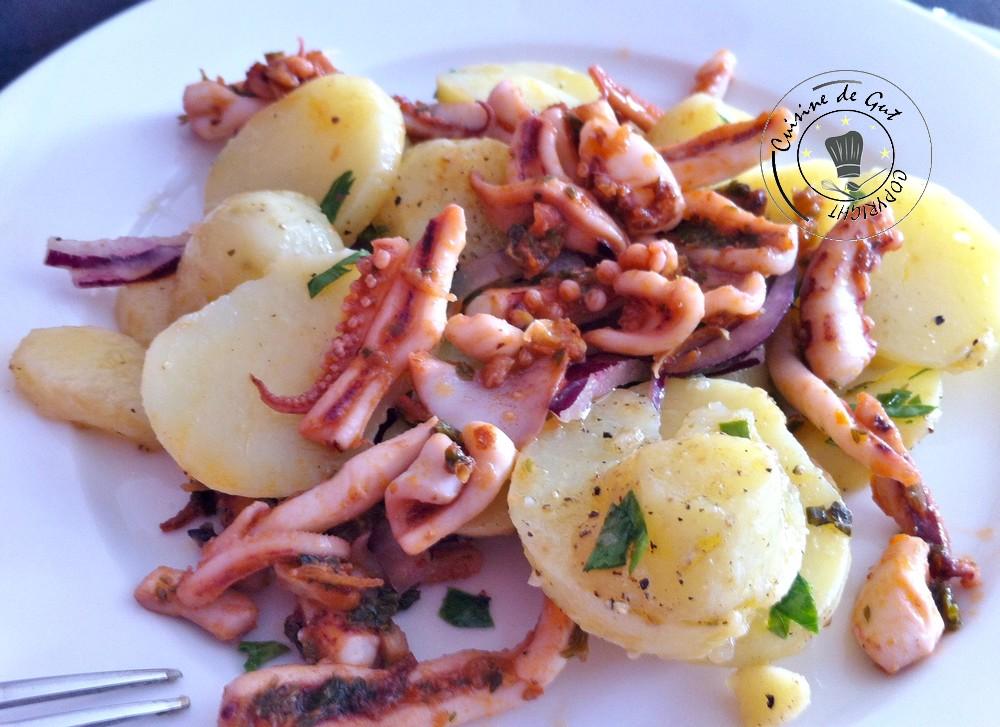 Primabreizh et encornets la plancha en salade cuisine for Plancha cuisine