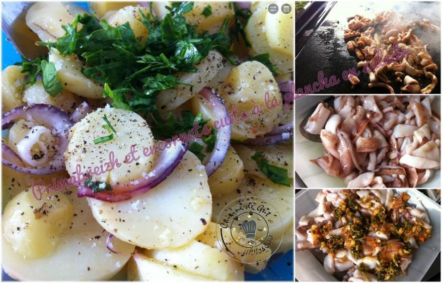 Primabreizh et encornets cuits à la plancha en salade