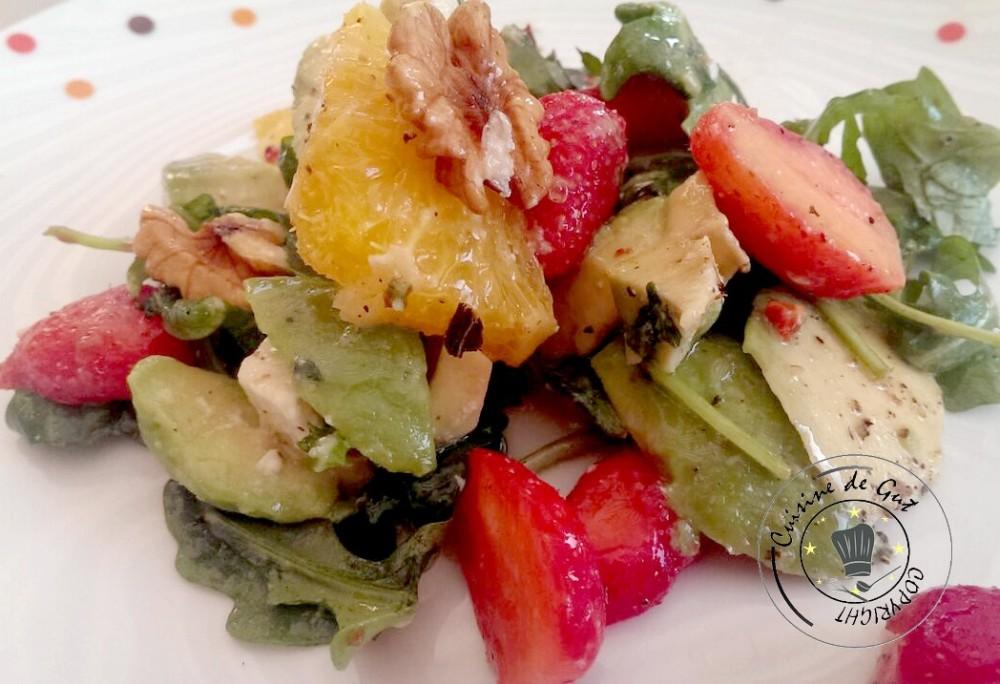 Salade de roquette fruits et feta