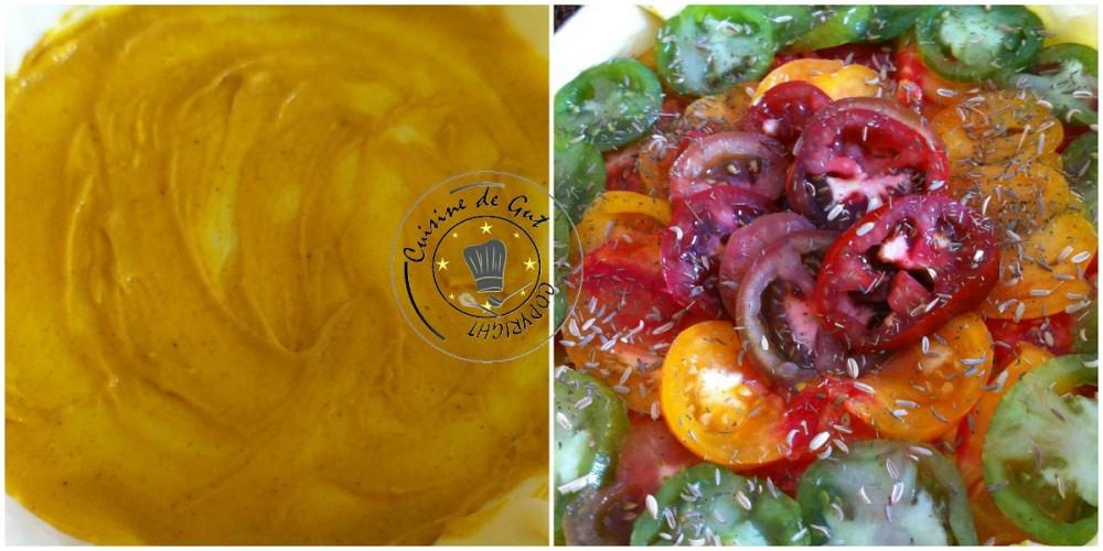 Tarte tomates colorée savora et fenouil