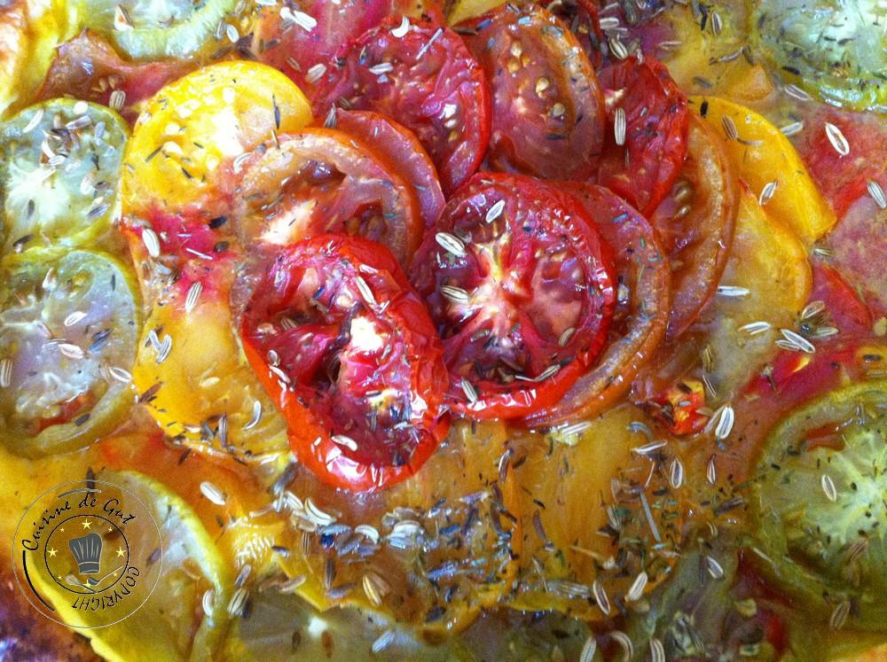 Tarte tomates colorées savora et fenouil