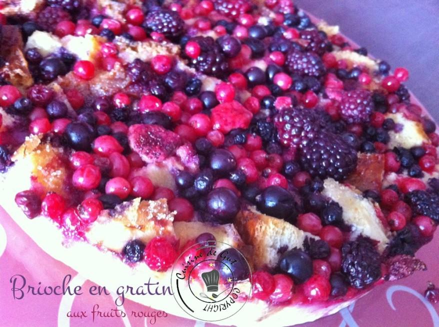 Brioche en gratin aux fruits rouges 1