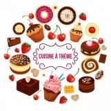 Logo cuisine à thème
