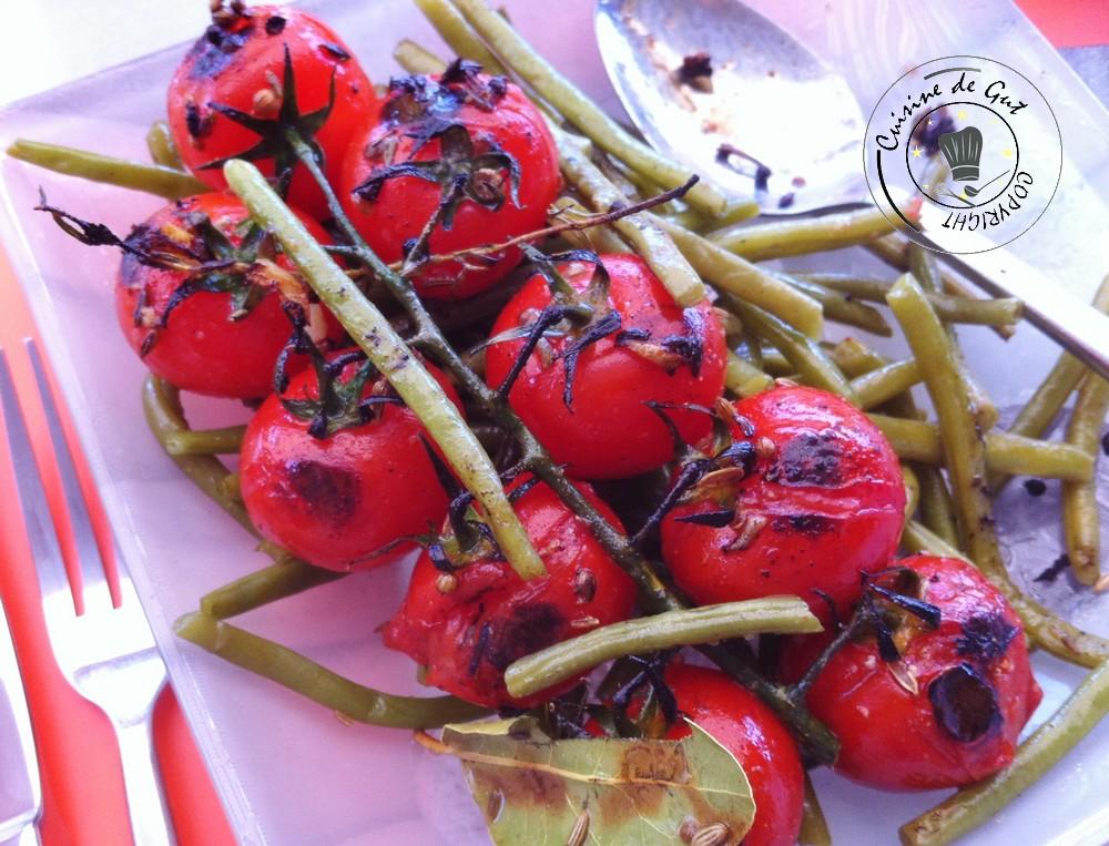 Plancha de tomates et saumon marinés bière coriandre graines de fenouil et thym frais 1