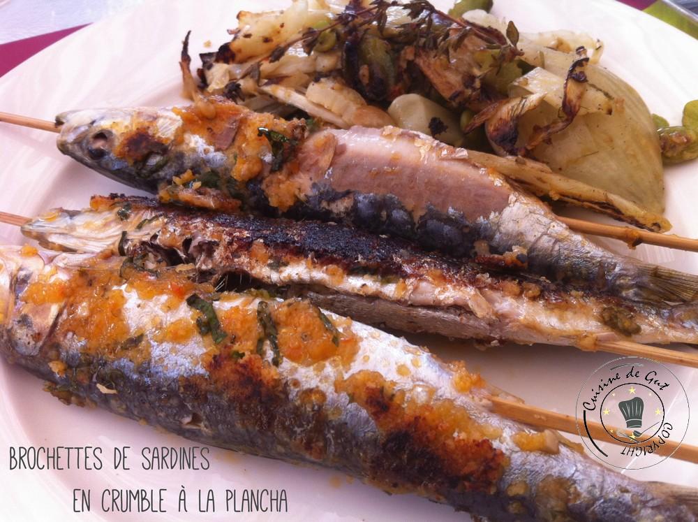 Brochettes de sardines en crumble à la plancha1