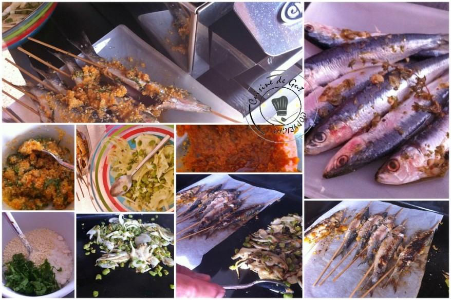 Brochettes de sardines en crumble à la plancha2