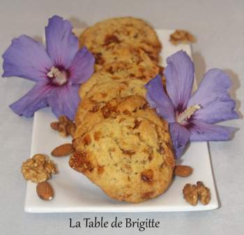 Cookies caramel salés fruits secs MA brigitte