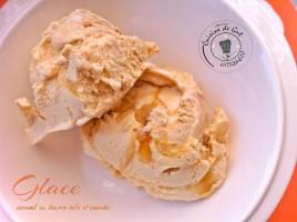 Glace beurre salé et amandes