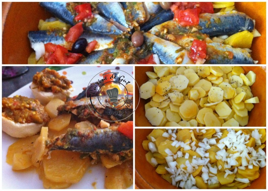 Tajine de sardines farcies à la Chermoula