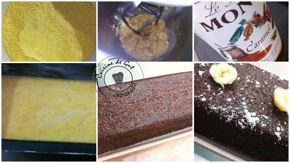 Cake banane caramel à la farine de Maïs 2