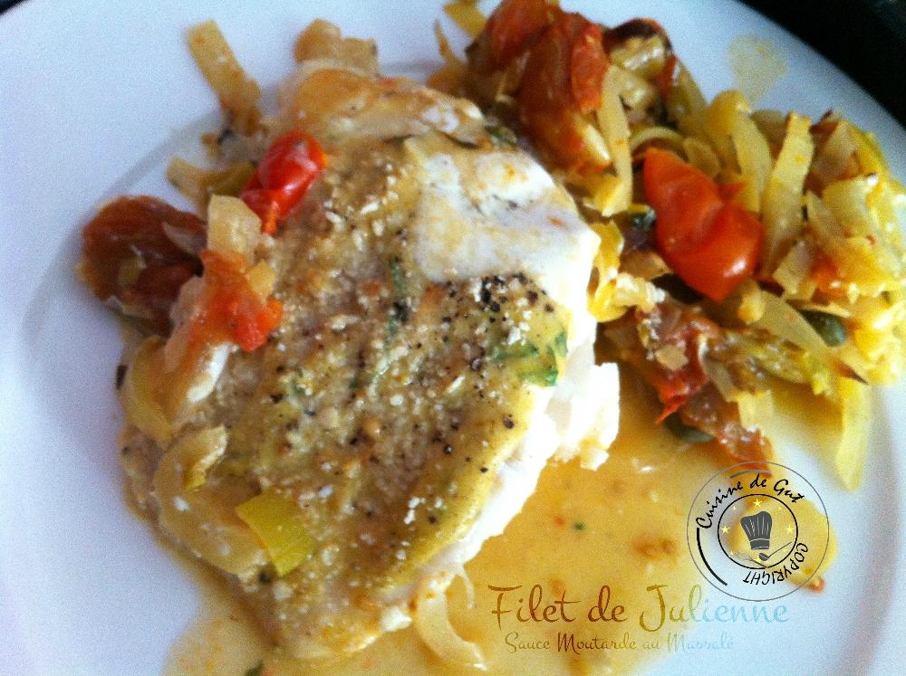 Filet de julienne sauce moutarde au massal cuisine de gut - Cuisiner filet de julienne ...