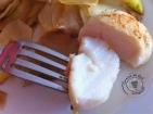 Noix de St-Jacques au combava et Citron confit sur lit de navets caramélisés3