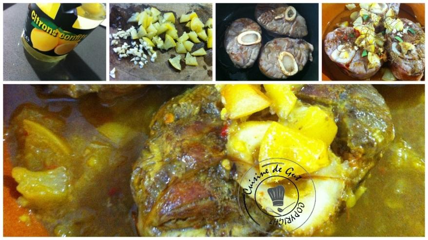 Tanjia de jarret de veau au citron confit et safran