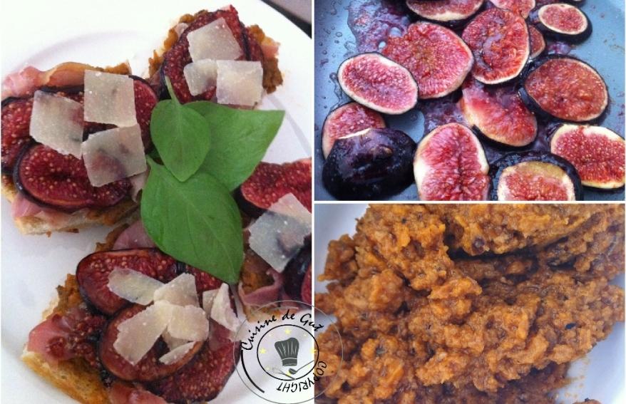 Tartine de figues au caviar d'aubergine2