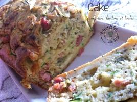 Cake courgettes lardons et brebis