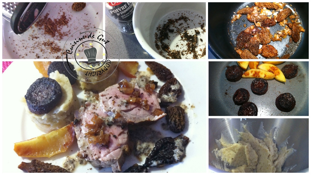 Filet mignon saveurs boudin morille céleri et pomme2