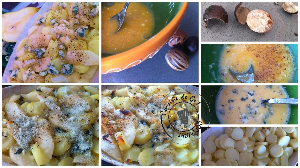Gratin de pommes de terre aux poires et roquefort2