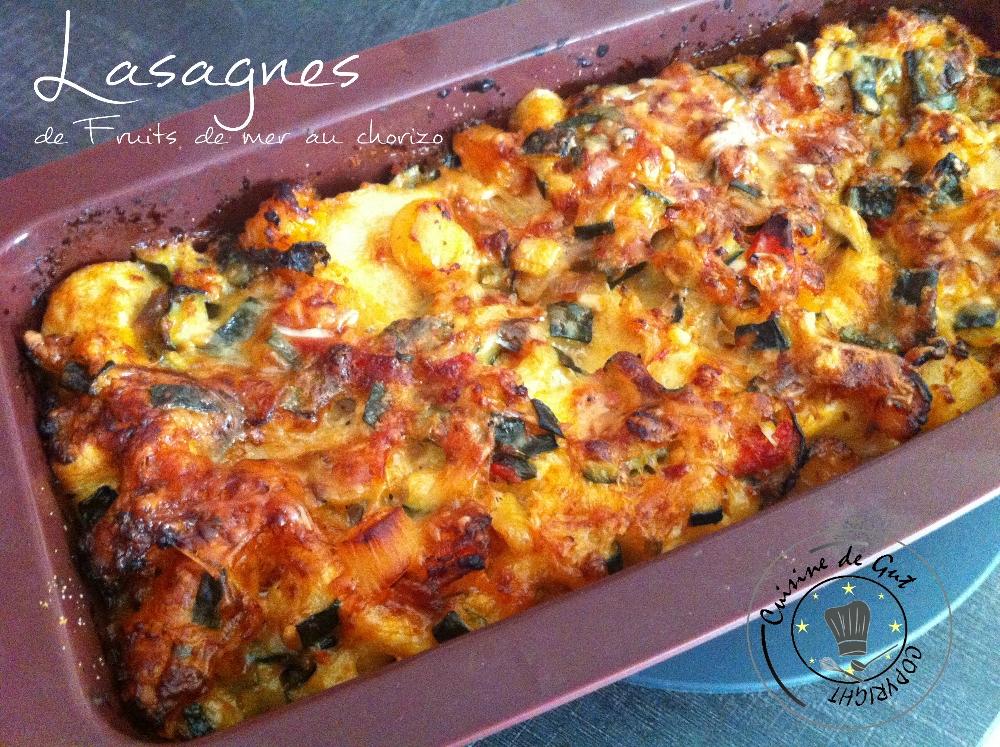 Lasagnes de fruits de mer sauce au chorizo1
