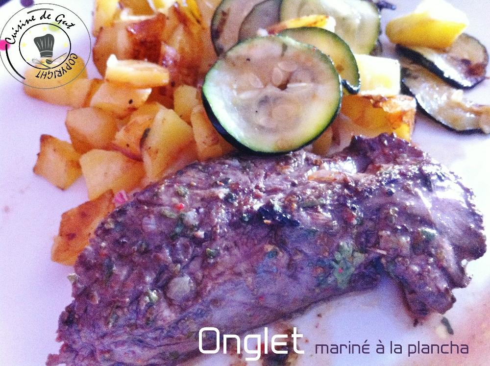 Onglet marin la plancha eno cuisine de gut for Cuisine 0 la plancha