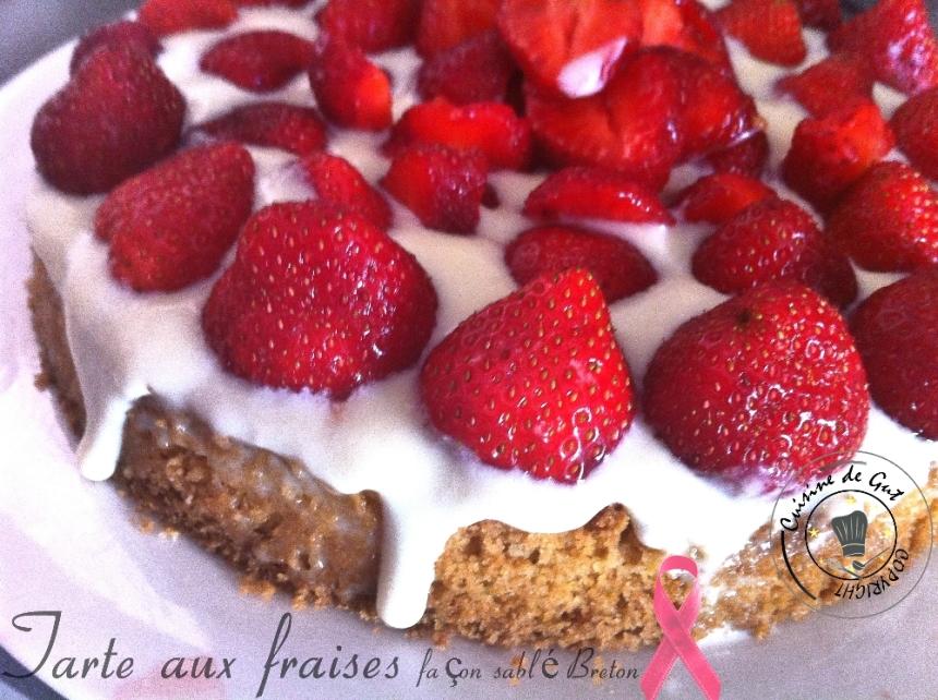 Tarte aux fraises  façon sablé breton