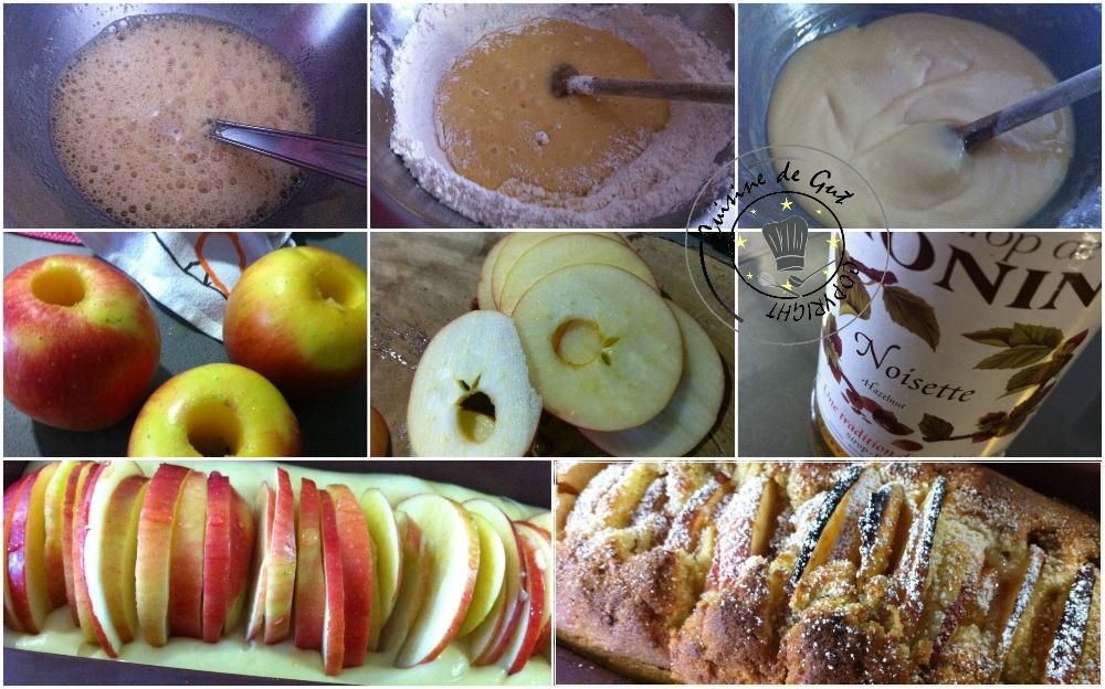 Cake aux pommes et sirop de noisettes3