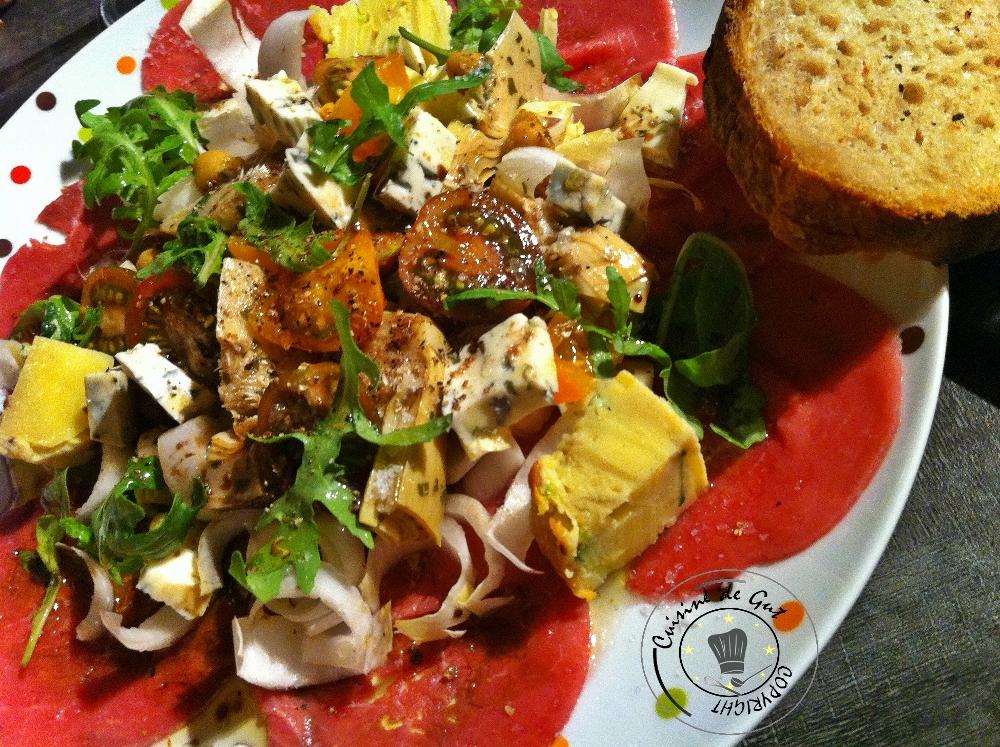 Carpaccio en salade1