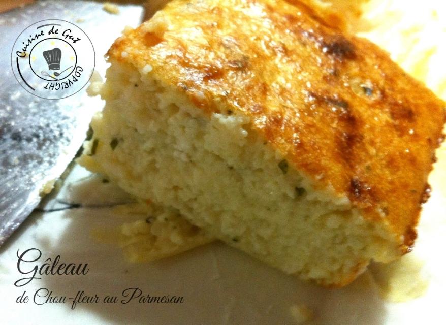 Gâteau de chou fleur au parmesan 1